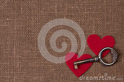 Key and hearts