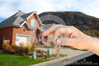 The key and house Stock Photo