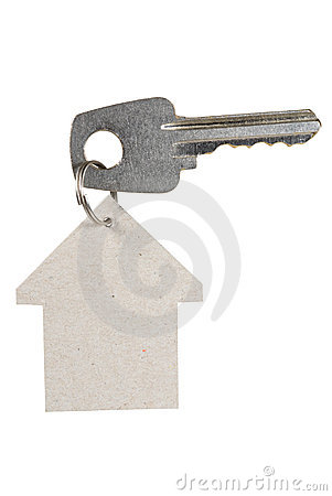 Key with a house tag