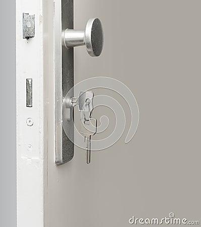 Free Key In Door Lock Stock Photos - 56448283