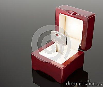 A key in jewel box