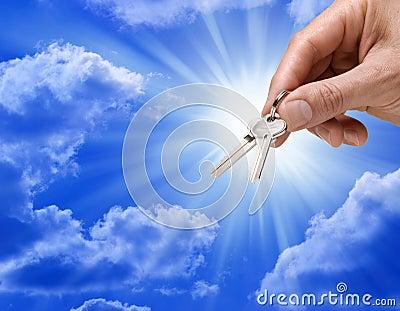 Realtor Keys Success Hand Business