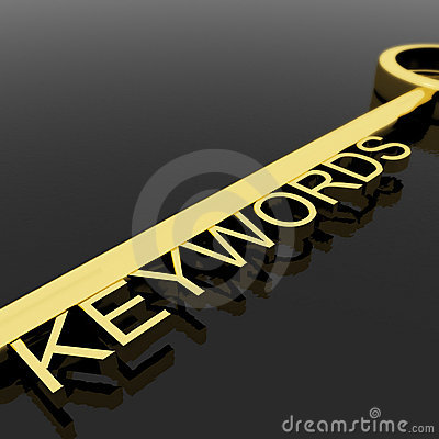 Key With Keywords Text As Symbol For SEO