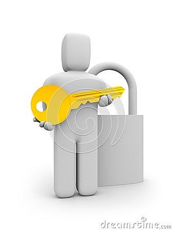 Key from the lock