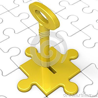 Key In Lock Showing Intimacy
