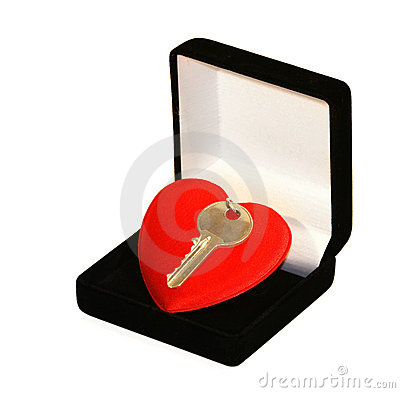Free Key Over Heart Royalty Free Stock Images - 5245299