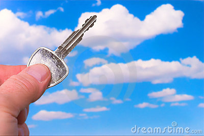 Key pointiing to the Sky