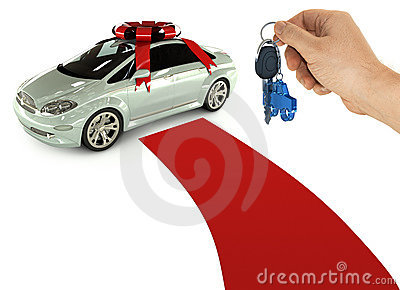 The key of a present car