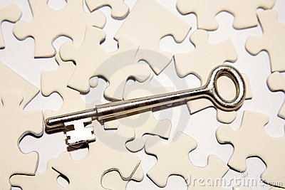 Key on puzzle pieces