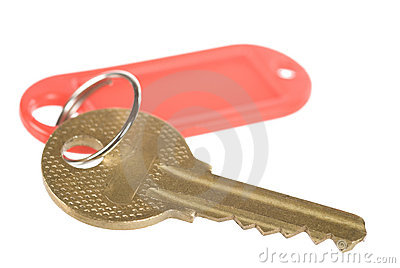 Key with a tag
