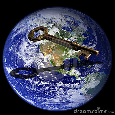 Free Key To Global Success Stock Image - 479341