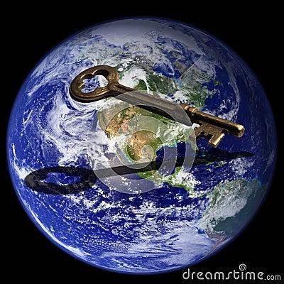 Free Key To Global Success Stock Image - 479341