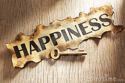 Key to happiness concept