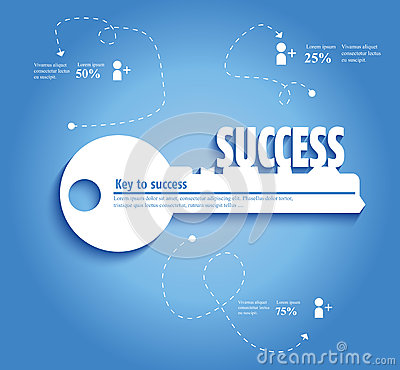 Free Key To Success Stock Photography - 58718402