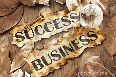 Key to success in global business concept