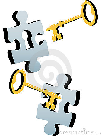 Key to unlock the lock and solve Jigsaw Puzzle