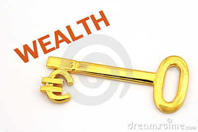 Key to wealth - euro