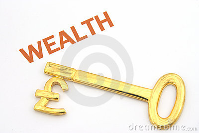 Key to wealth - pounds