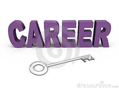 The key to your career - a 3d image