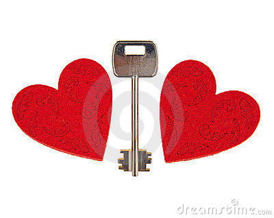 Key between two hearts