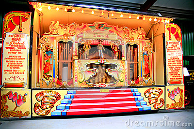 The 72 Key Verbeeck Concert / Street Organ Editorial Stock Image