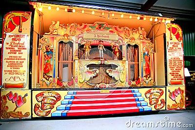 The 72 Key Verbeeck Concert / Street Organ Editorial Stock Image