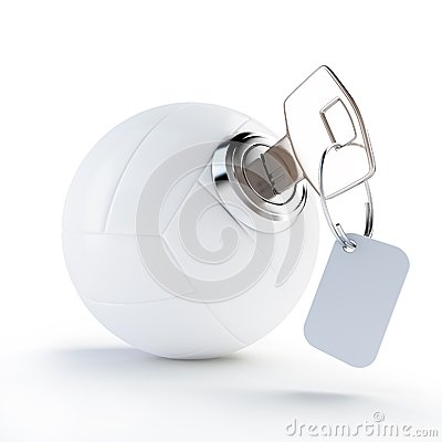Key volleyball ball