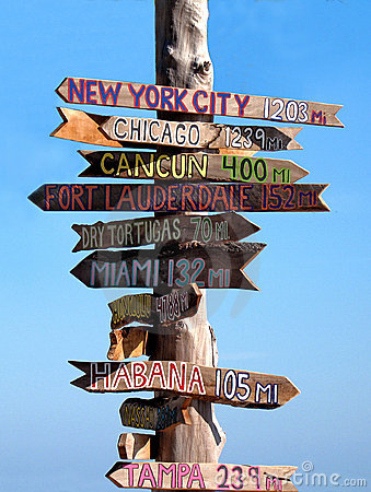 Key west signpost
