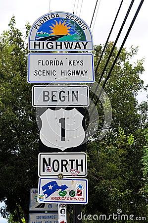 Free Key West US-1 Stock Photography - 27209982