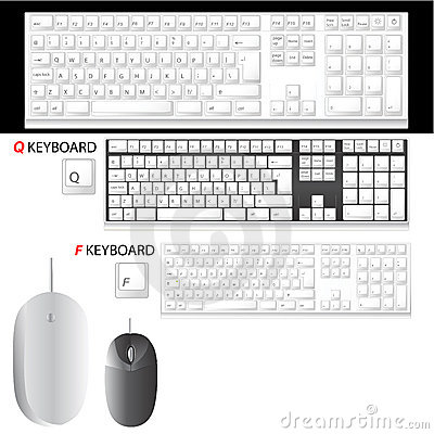 Free Keyboard And Mouse Vector Stock Photo - 3864690