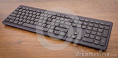 Keyboard with black buttons