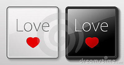 Keyboard button - Love