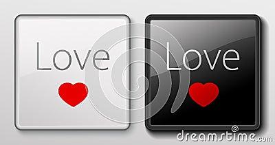 Keyboard button - Love