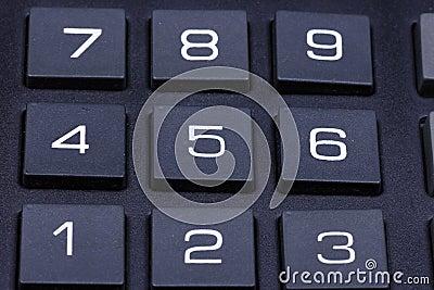 Keyboard of a calculator