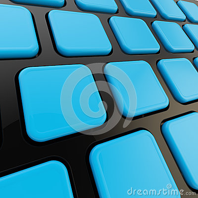 Keyboard close-up to empty copyspace keys