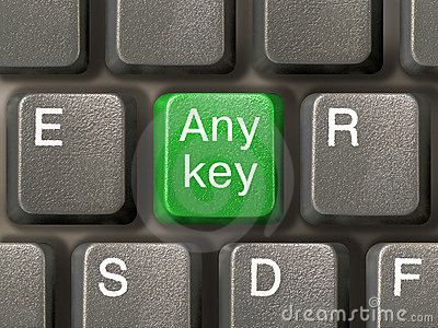 Keyboard (closeup) with Any key