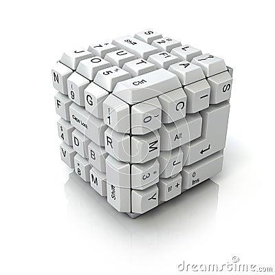 Keyboard cube
