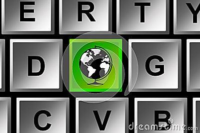 Keyboard globe