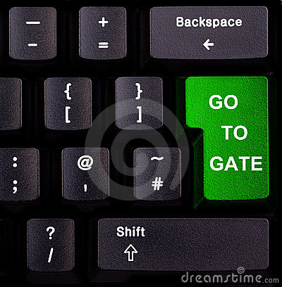 Keyboard go to gate