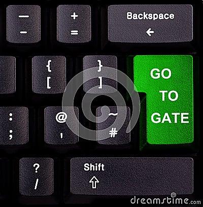 Keyboard go to gate