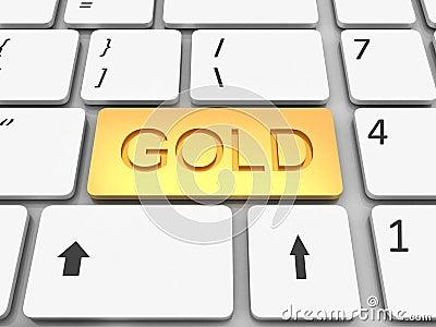 Keyboard gold  key