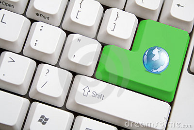 Keyboard with green earth button