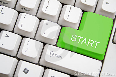 Keyboard with green START button