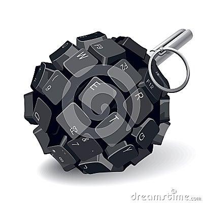 Free Keyboard Grenade Royalty Free Stock Image - 23785746