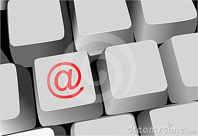 Keyboard, key with email sign