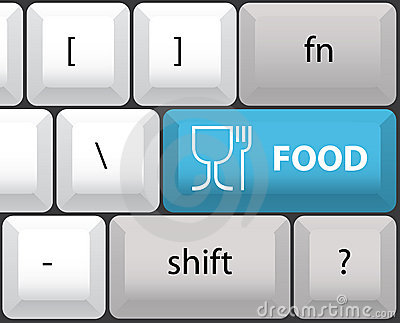 Keyboard layout with food button