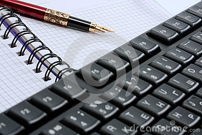 Keyboard and note pad