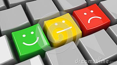 Keyboard positive, neutral and negative isometry