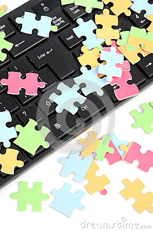 Keyboard and puzzle