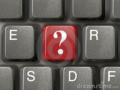 Keyboard with question key